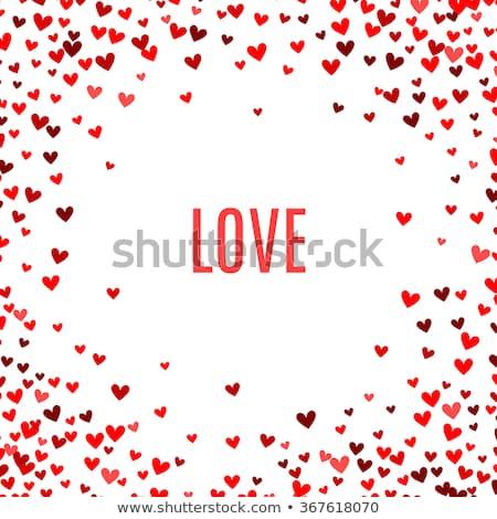 Stock fotó: Egyszerű · szív · keret · Valentin · nap · esküvő · terv