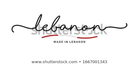 Líbano vermelho carimbo isolado Foto stock © tashatuvango