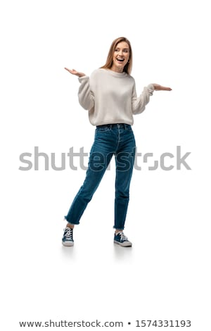 Attractive girl posing in casuals Stock photo © stockyimages