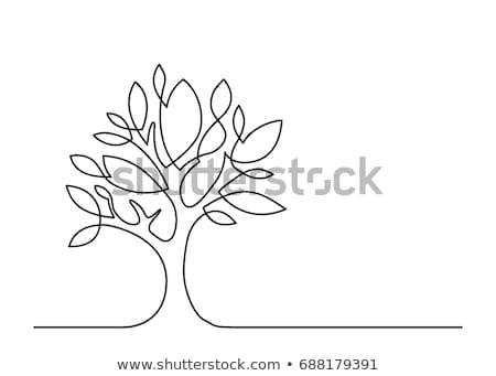 Vector spring leaf - continuous line drawing Stock photo © orson