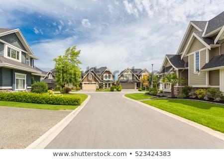 voorstads- · huizen · buurt · mooie · huis · architectuur - stockfoto © tracer