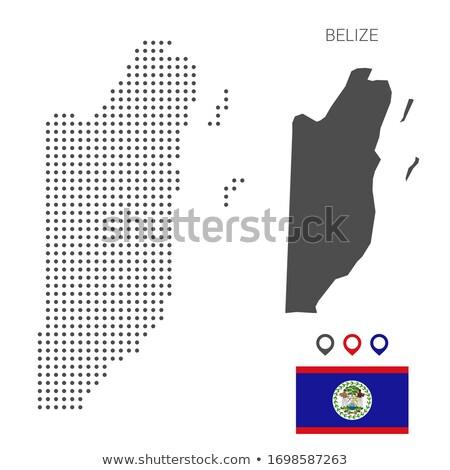 Térkép Belize pont minta vektor kép Stock fotó © Istanbul2009