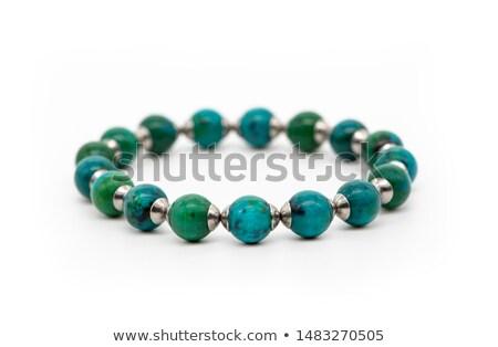 Mineralny odizolowany biały niebieski kamień krystalicznie Zdjęcia stock © pixelman