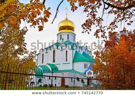 Fedorovskiy cathedral in Pushkin in autumn, Stock photo © Pilgrimego
