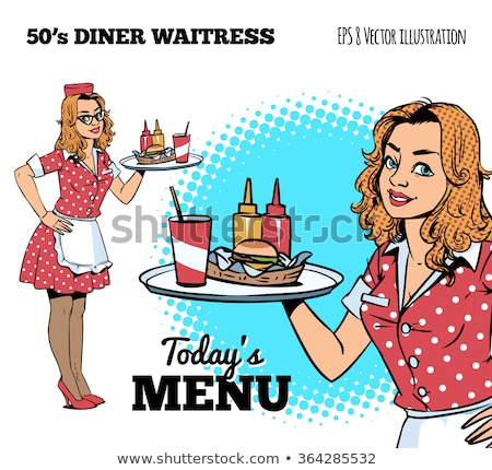 Waitress in a diner Stock photo © cteconsulting