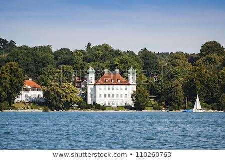 замок озеро изображение небе дома спорт Сток-фото © w20er
