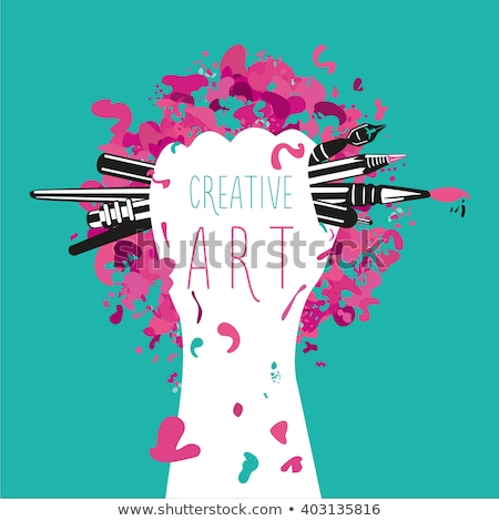 Crayon Creative art créativité réunion vert Photo stock © vgarts
