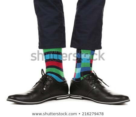 fanciful and colorful socks isolated Stock photo © zkruger