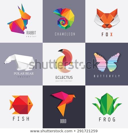оригами рыбы пузырьки бумаги дизайна Сток-фото © ulyankin