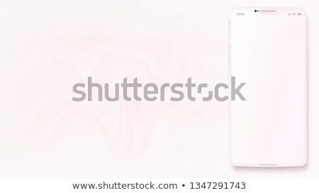 White Pearl Smartphone with blank screen  Stock photo © manaemedia
