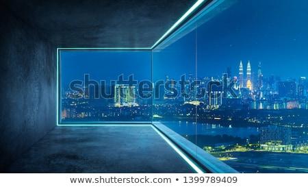 стеклянное · здание · современное · здание · Blue · Sky · небе · строительство · стены - Сток-фото © Belyaevskiy