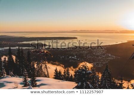 バンクーバー 市 太陽 自然 雪 冬 ストックフォト © eppicphotos
