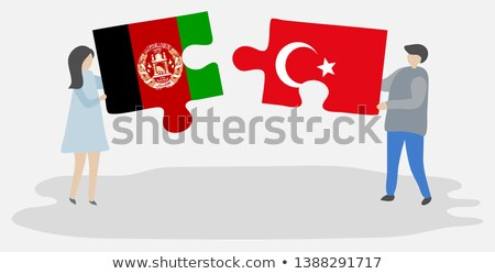 Turkey and Afghanistan Flags in puzzle Stock photo © Istanbul2009