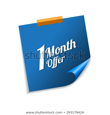 1 Month Offer Blue Sticky Notes Vector Icon Design Stock photo © rizwanali3d