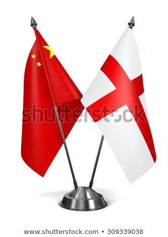 Chine Angleterre miniature drapeaux isolé blanche Photo stock © tashatuvango