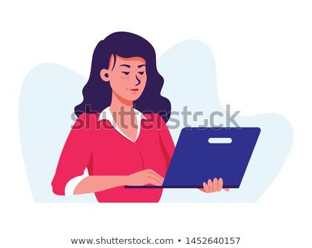 portré · gyönyörű · igazgató · dolgozik · számítógép · iroda - stock fotó © nenetus