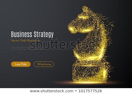 Paard 3D laag veelhoek Stockfoto © teerawit