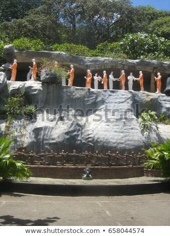Sculpture or temple Sri Lanka orange Voyage Photo stock © Mikko