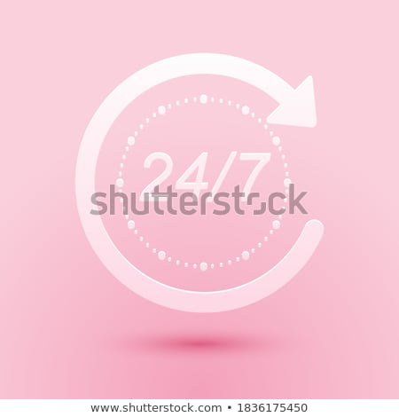 24 hours delivery pink vector button icon stock photo © rizwanali3d