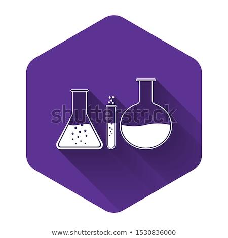 wetenschap · paars · vector · icon · ontwerp · digitale - stockfoto © rizwanali3d