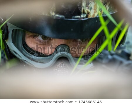 paintball player looks in the face stock photo © paha_l
