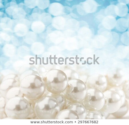 necklaces of pearls and blue stones stock photo © mayboro1964