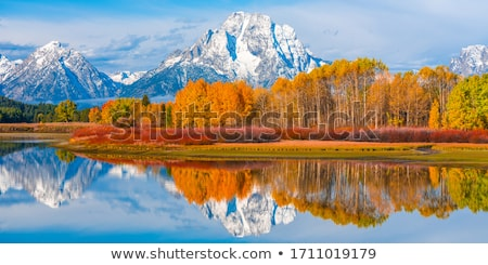 Lake landscape with autumn colors stock photo © Mps197