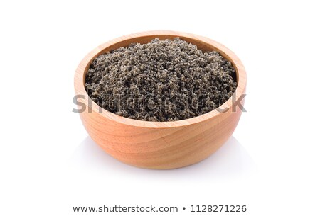 Photo stock: Organique · noir · sésame · isolé · blanche