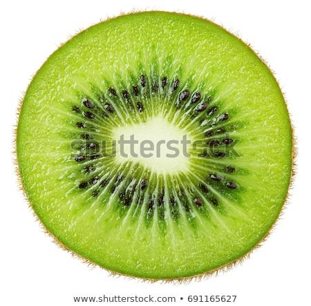 Kiwi tranche macro fruits isolé blanche Photo stock © Vectorex