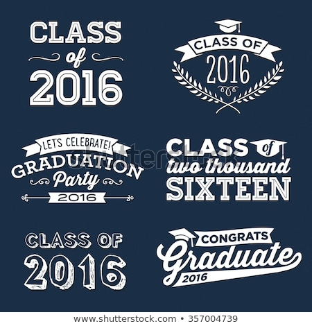 class of 2016 with graduate cap with tassel Stock photo © marinini