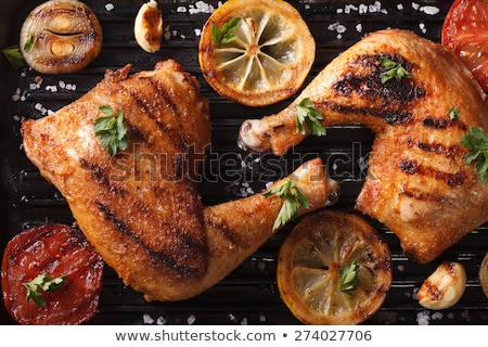 two roasted chicken drumstick stock photo © klinker