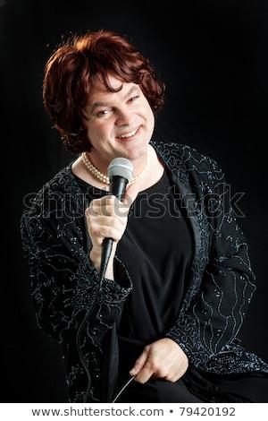 有名人 女性 孤立した 白 幸せ ストックフォト © lisafx