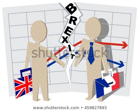 Britain and France Brexit. Severance of relations in business Stock photo © orensila