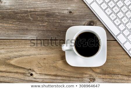 Zwarte koffie school kantoor top Stockfoto © tab62
