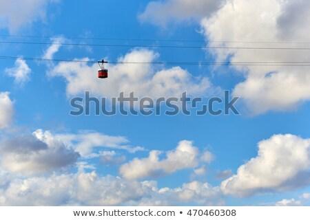 Kablo araba mavi bulutlu gökyüzü Barcelona Stok fotoğraf © amok