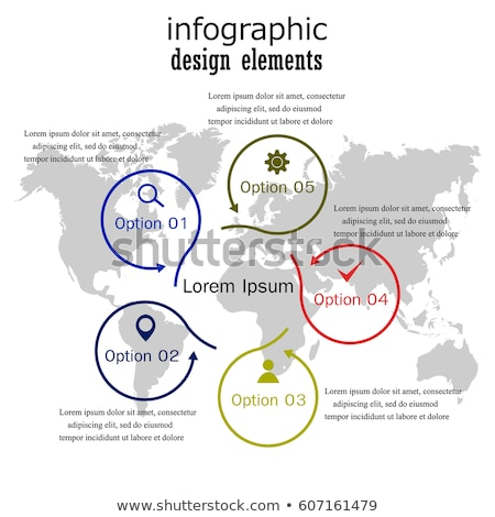 Vector infografía ciclo plantilla líneas iconos Foto stock © orson