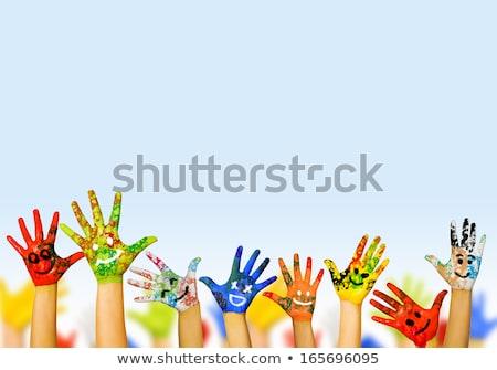 Ninos cara feliz aula ilustración libros nino Foto stock © bluering