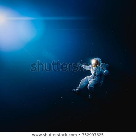 űrhajós lebeg illusztráció fehér háttér fiú Stock fotó © bluering