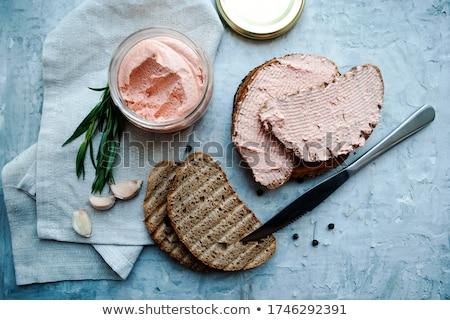 fish spread and bread Stock photo © M-studio