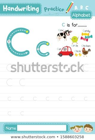 ábécé csirke illusztráció háttér művészet oktatás Stock fotó © bluering