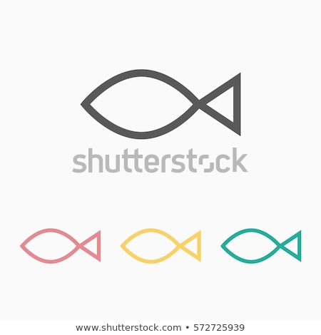 jesus fish icon stock photo © nickylarson974