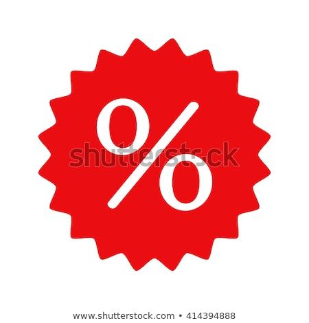 vermelho · menos · vinte · por · cento · assinar · isolado - foto stock © oakozhan