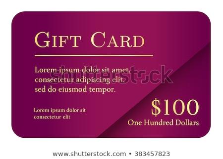 Lujo simple tarjeta de regalo color dorado texto Foto stock © liliwhite
