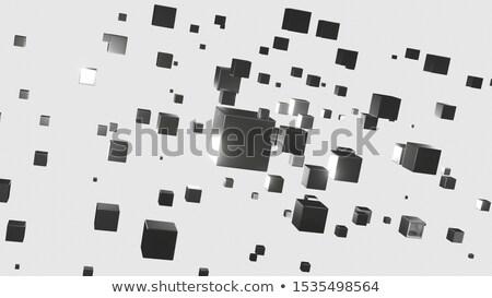 bloków · streszczenie · kamień · czarny - zdjęcia stock © DzoniBeCool
