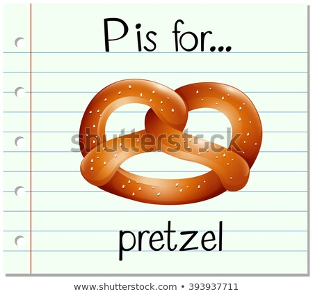 Flashcard alphabet P is for pretzel Stock photo © bluering