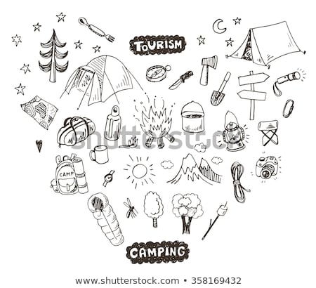 fire axe sketch icon stock photo © rastudio