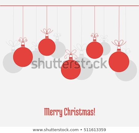 Basit Noel dekorasyon beyaz Stok fotoğraf © dariazu