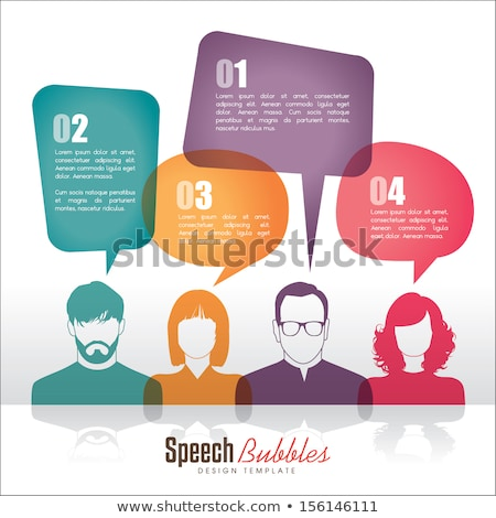 Speech bubbles template and man thinking Stock photo © bluering