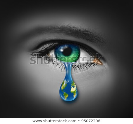 Earth is crying with tears Stock photo © bluering