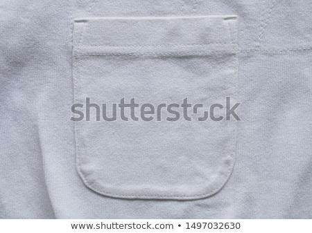 Poche coton tissu résumé mode design Photo stock © OleksandrO